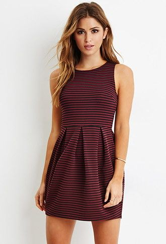 Striped A-Line Dress | Forever 21 - 2000157220