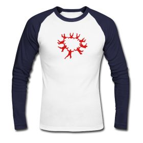 Men's Baseball T-Shirt Classic baseball long sleeve raglan t-shirt for men,