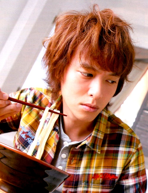Ryuhei Maruyama. About to eating Udon Noodles.