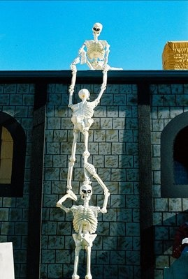 Life size SKELETON Halloween decor Haunted House Prop GLOWS in DARK | eBay