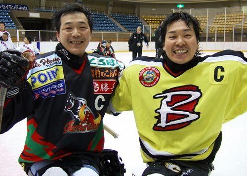 Satoru Sudo(L) and Kazuhiro Takahashi