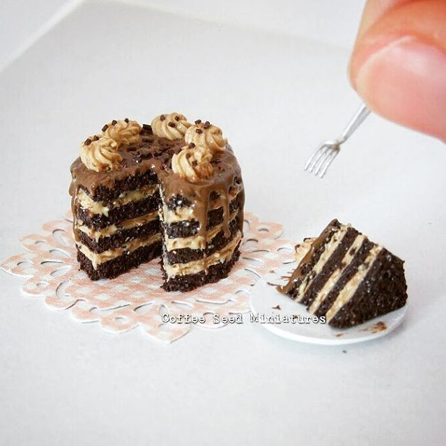 Look at the layers on this miniature German chocolate cake!