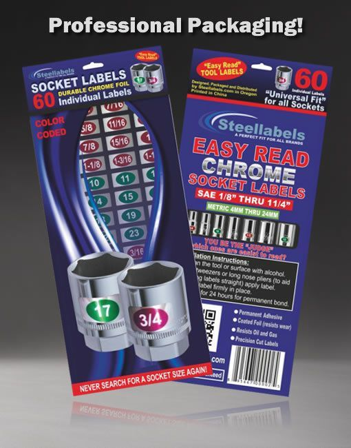 Chrome Socket Labels for mechanics & the home craftsman Best Quality- Best Price | Home & Garden, Tools, Hand Tools | eBay!