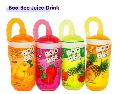 Boo Bee is the great new drink with the built in straw. Packed in a 180ml pod with a built in straw tucked neatly into the side Boo Bee is sure to appeal to children's thirst for novelty as well as being a refreshing and tasty drink in itself.