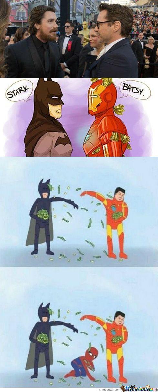 Batman vs Iron Man Meme | Slapcaption.com