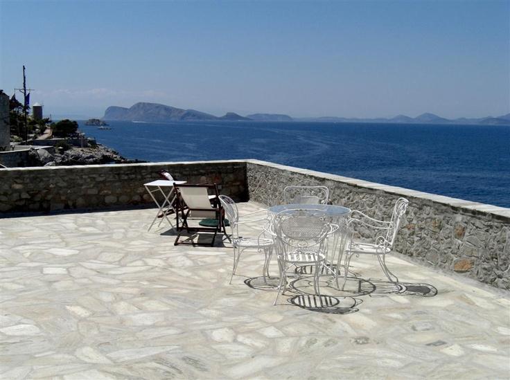 Rooftop view, Villa Castello, Hydra Greece