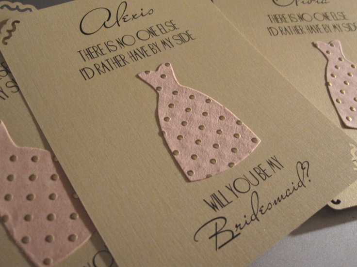 Will You Be My Bridesmaid Cards by theinspirednote on Etsy, $24.00