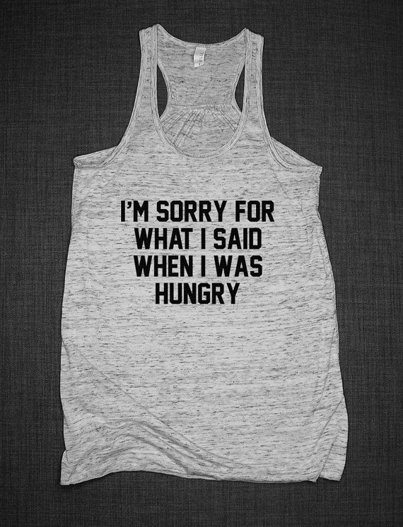Gym Fitness Tank Top Im Sorry For What I by ResilienceStreetwear grey large