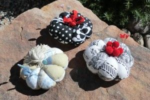 Standard pin cushion tutorial. Could be adapted to any size