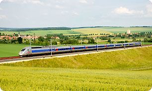 TGV Train- great way to see the countryside of France on an immaculate, comfortable trains that almost flies!