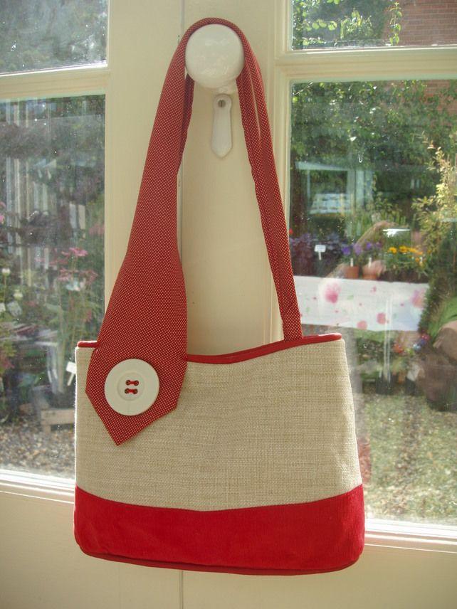 Upcycled vintage tie handbag £30.00