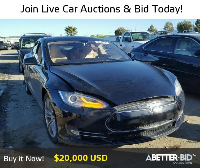 Salvage  2013 TESLA TESLA for Sale - 5YJSA1DN5DFP20564 - https://abetter.bid/en/20428727-2013-tesla-model_s
