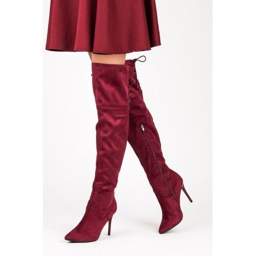 Dámské kožačky Yes Mile Munta červené – červená Kozačky, které se perfektně hodí jak do chladného počasí tak na místo, kde chcete prostě a vypadat úžasně. Kozačky jsou zateplené a stojí na hladké podrážce s …