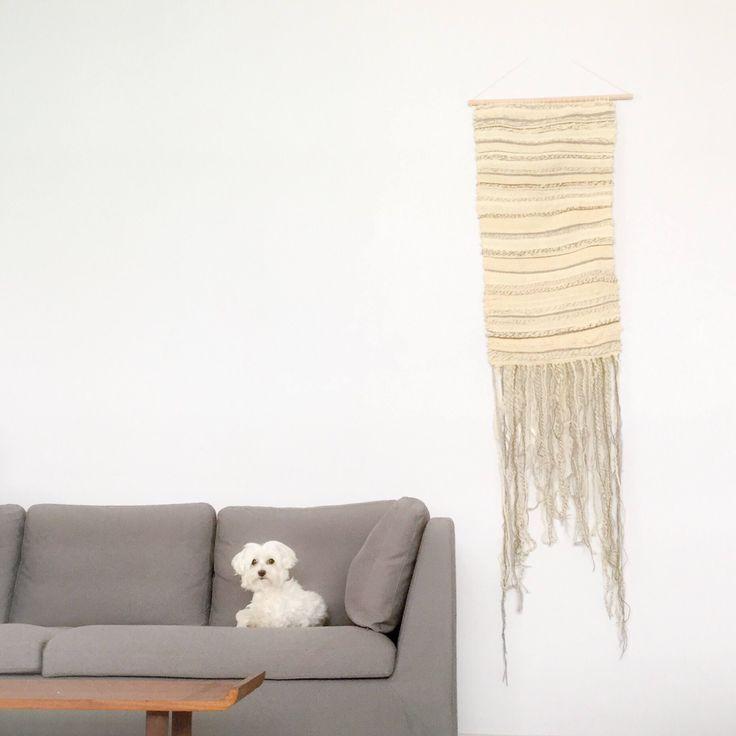Neutral wool wall hanging https://www.etsy.com/listing/538212673/extra-large-wall-art-wool-wall-hanging