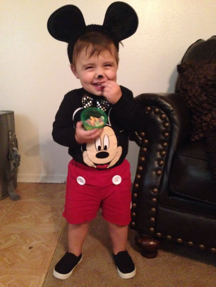 diy mickey mouse costume i did this for under 15 baby halloweenhalloween - Infant Mickey Mouse Halloween Costume
