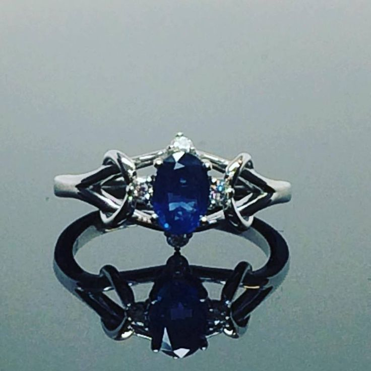 Elegant, contemporary flowing art, with a hand selected AAA sapphire for her engagement ring. Infuse your special moment into your jewellery piece, you won't regret it