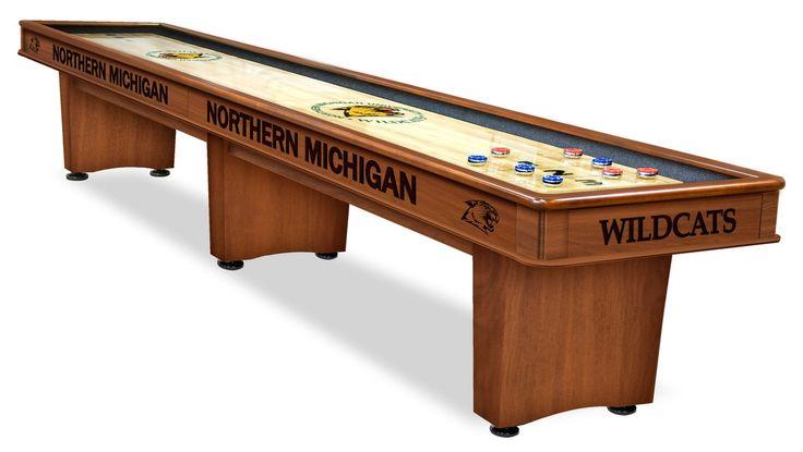 Northern Michigan University Wildcats Shuffle Board Table