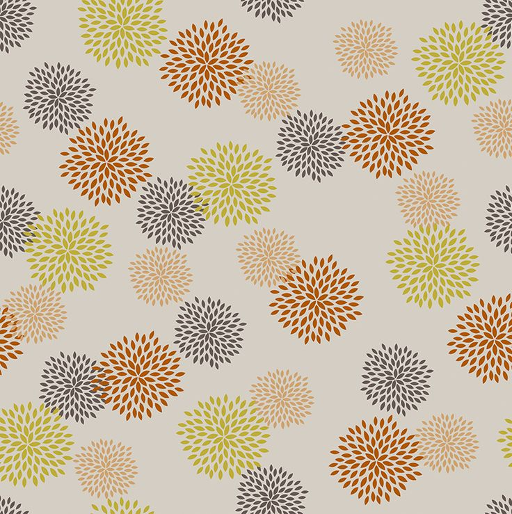 Lotta Mandarin // Hot off the Press Print Collection by Materialised www.materialised.com #print #pattern #textile #fabric #interiordesign #hotoffthepress #materialised