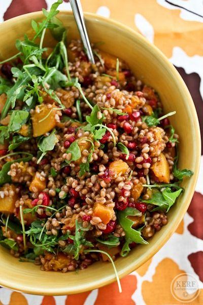 The Ultimate Fall Wheatberry Salad - Kath Eats Real Food