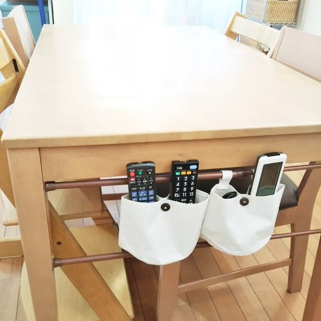 工具不要 100均材料で リモコン収納 をテーブル横に作る