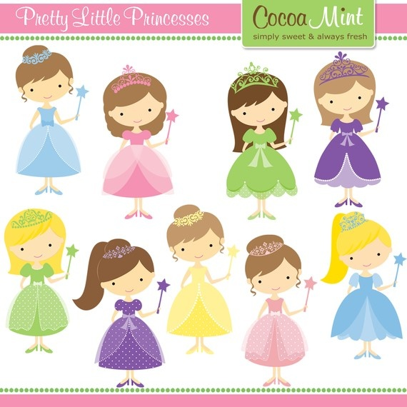 Plantillas infantiles. Princesas.