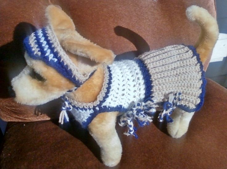 Cute crocheted dog clothes made by a disable grandma, show her some love - READY-to-WEAR Collection. via Etsy.