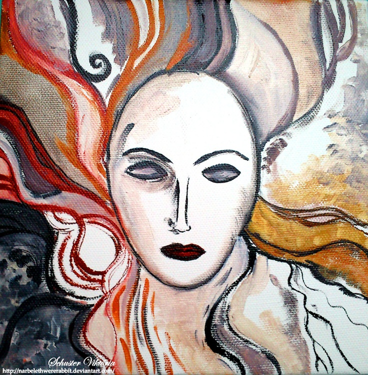 The inner scream by me oil, canvas Christmas gift for my sister  Narbelethwererabbit.deviantart.com on @deviantART