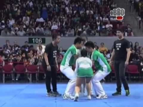 Interesting stunts you don't see in the states - Group Stunts Competition UAAP 2013