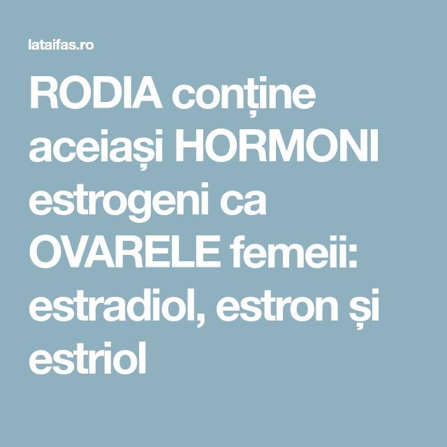RODIA conține aceiași HORMONI estrogeni ca OVARELE femeii: estradiol, estron și estriol