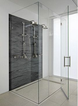 Frameless Glass Shower Enclosure - contemporary - showers - new york - ATM Mirror and Glass