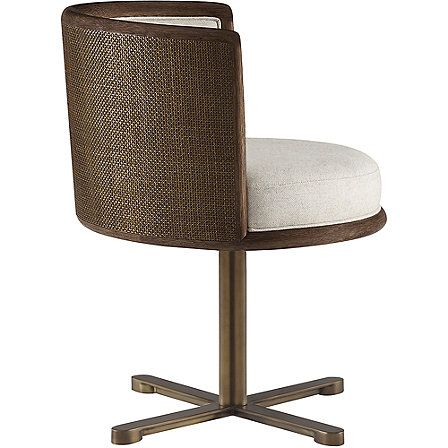 McGuire Furniture: Barbara Barry Canyon Swivel Dining Chair: No. M-436A