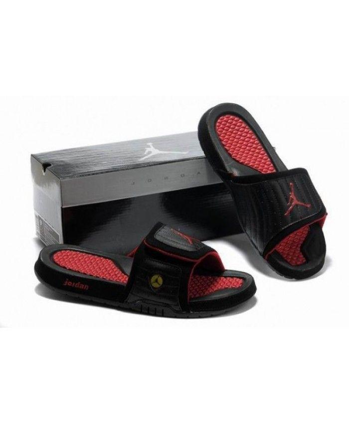 new product a8eab 80181 Air Jordans 14 Massage Slippers Black Red | Nike Jordan ...