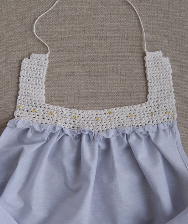 Molly's Sketchbook: Sweet Crochet and Sew Dress - The Purl Bee - Knitting Crochet Sewing Embroidery Crafts Patterns and Ideas!