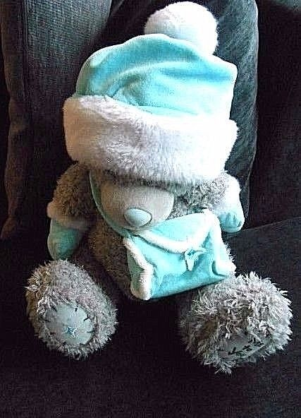 Me to You  BIG TEDDY BEAR WINTER GLOVES WEARING PURSE / UK H22B #MetoYou #WINTER