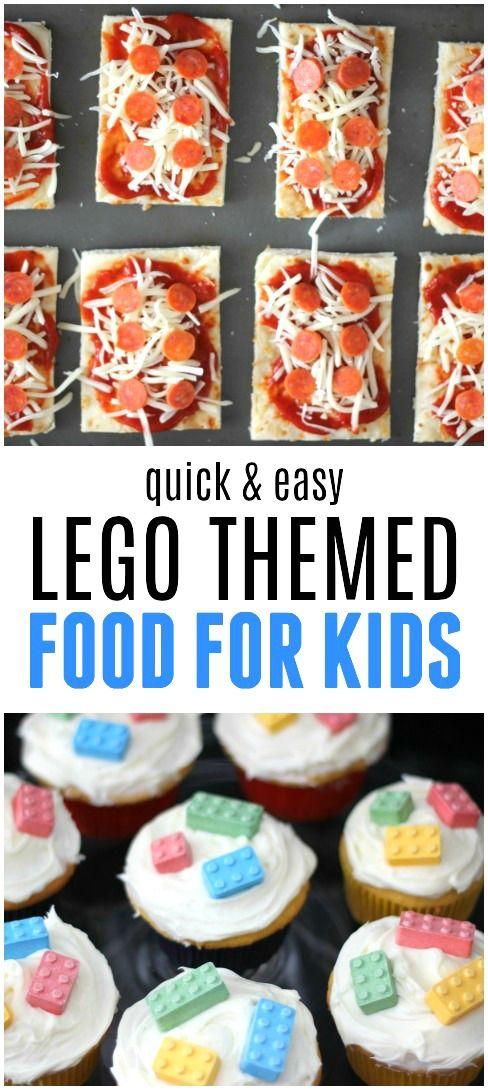 Quick & Easy LEGO Themed Food for Kids