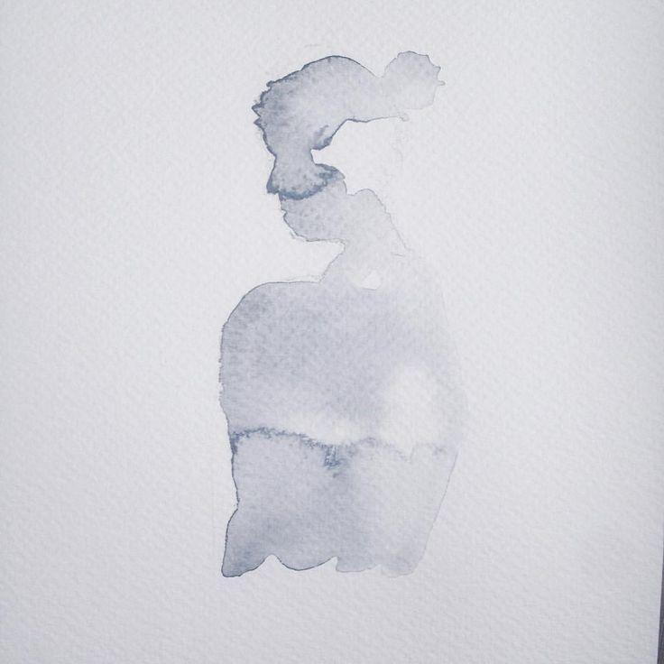 Instagram @kimartinsartist  || Number 6 || 15cmx19,5cm watercolor ink in watercolor paper with 300g/m2 #watercolor #painting #art #silhouette #decoration #wall #kimartinsartist #color