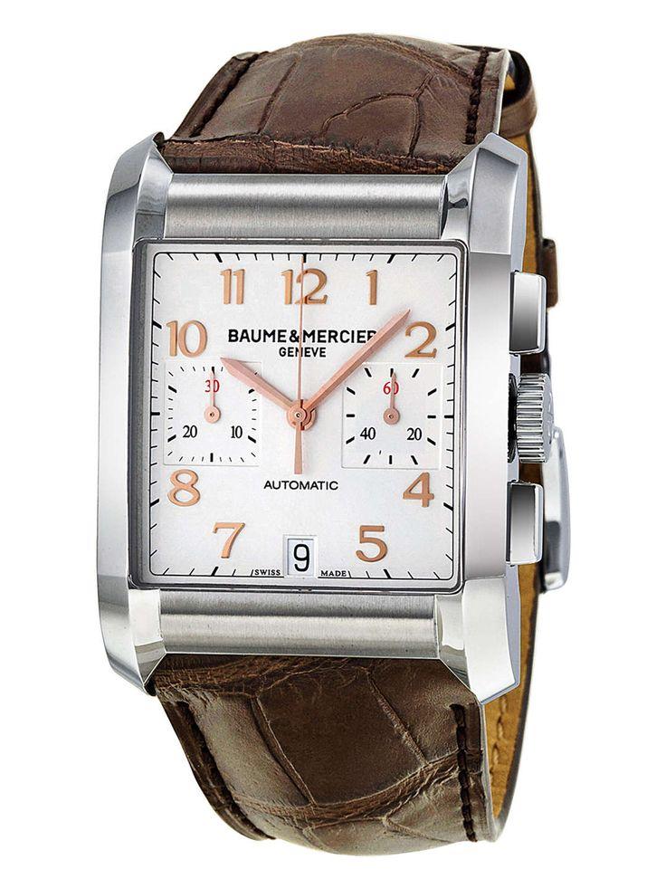 Baume & Mercier — Baume & Mercier Stainless Steel Hampton Chronograph Watch, 34mm on daiiily.com