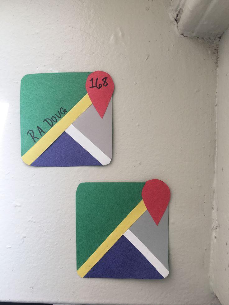 Google Maps Door tags (door decs) Building theme: Apps. We choose google maps as our app.