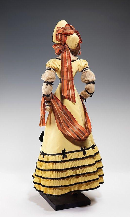 1820 Кукла от Дома Patou (металл, гипс, волосы, шелк), 1949.  ММА
