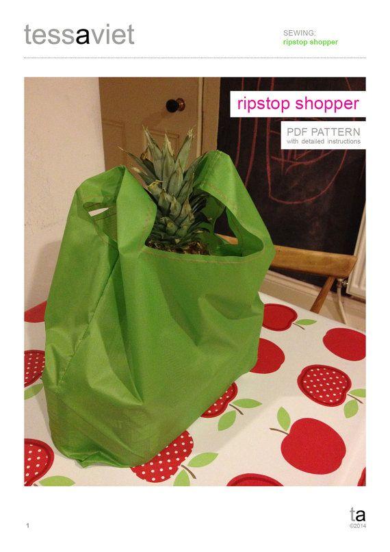Ripstop shopper PDF pattern by tessaaviet on Etsy