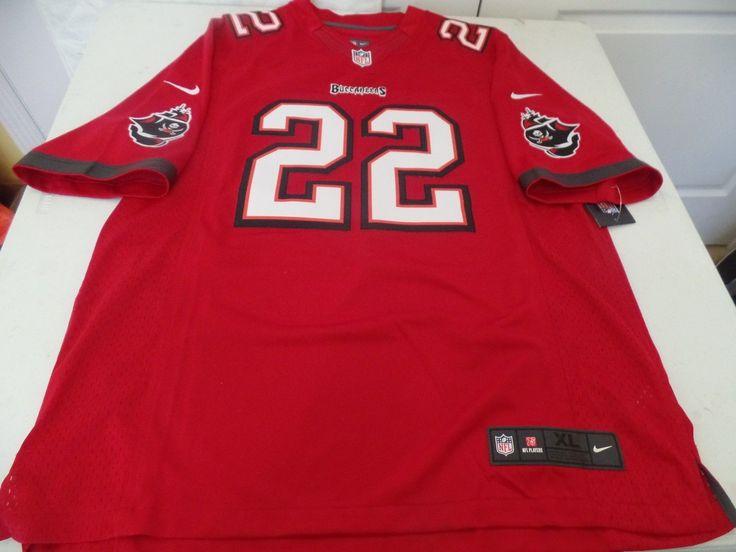NEW NIKE NFL TAMPA BAY BUCCANEER DOUG MARTIN On Field FOOTBALL JERSEY SZ XL RED
