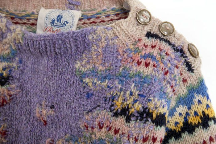 Celia Pym Hope's Sweater, 1951, moth eaten sweater and darning, 2011