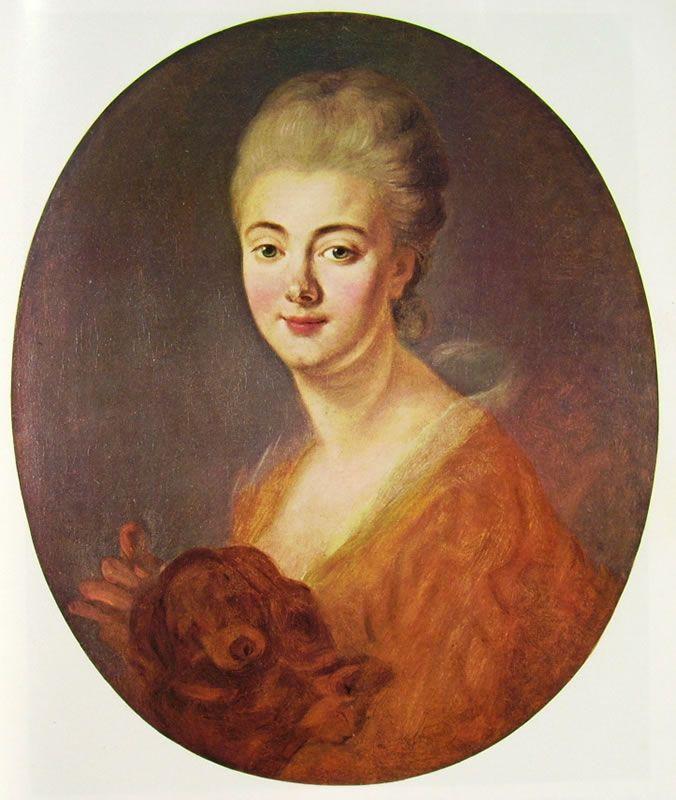 "Jean-Honorè Fragonard, ""Constance de Lowendal, contessa de Turpin de Crisse "", 1780-88, olio su tela, 64 x 54 cm, Museu de Arte, a San Paolo."
