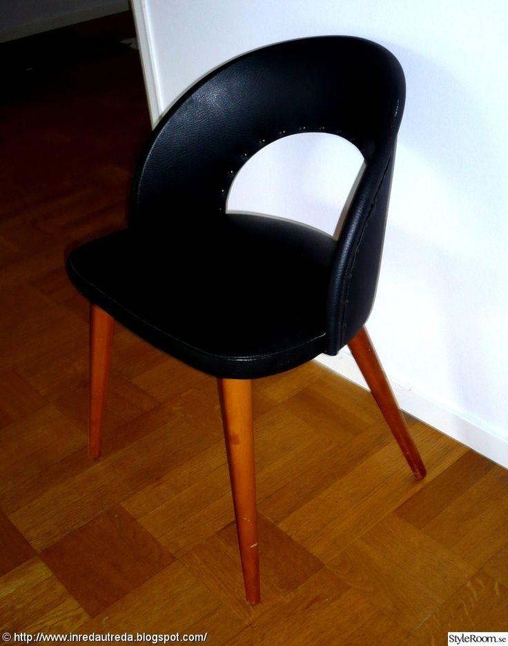 50-tal stol teak svart galon