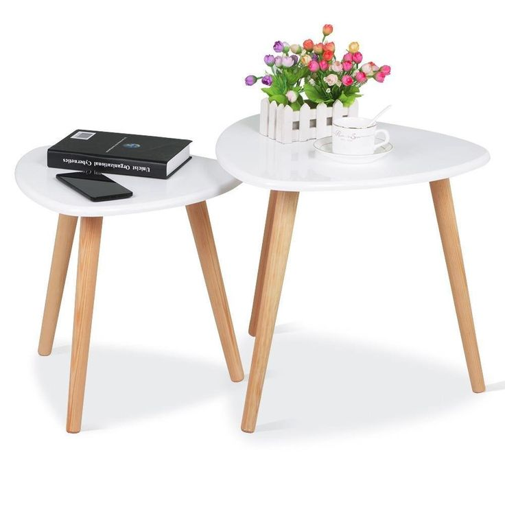 White Modern End Tables