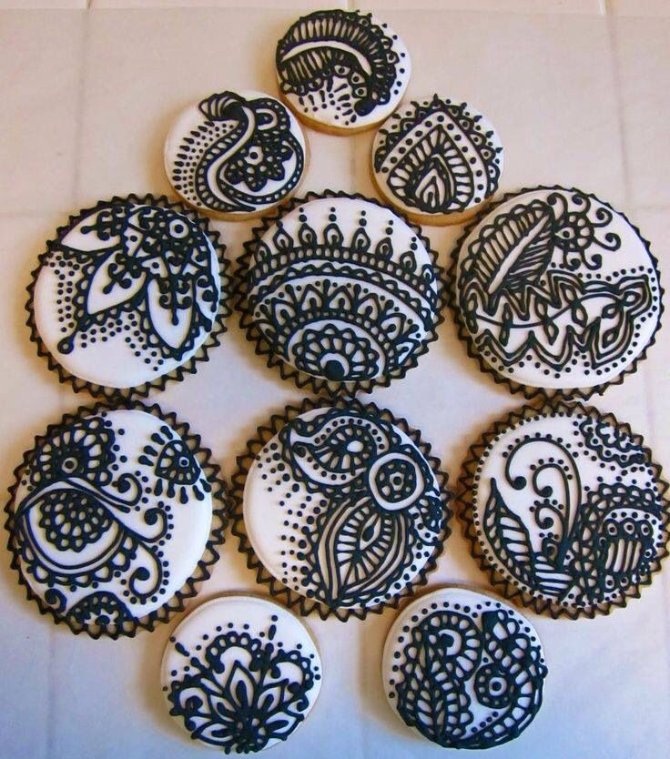 Henna Mehndi Montreal : Best henna cookies indian wedding inspirations images