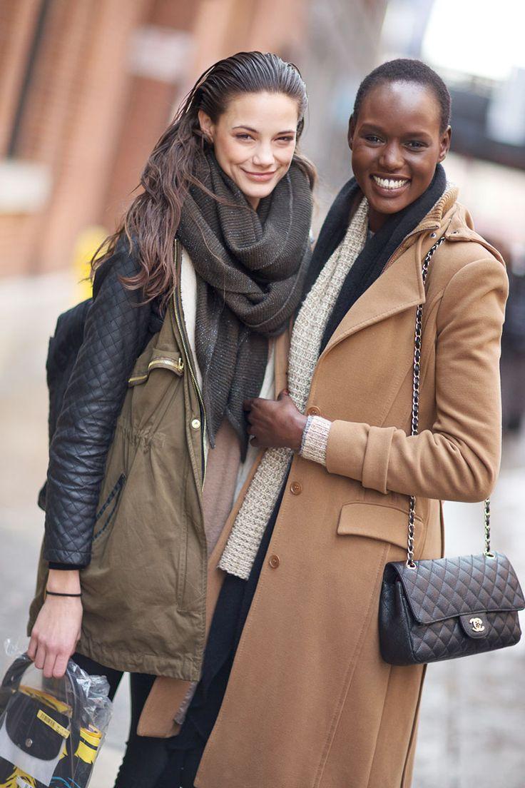 New York Fashion Week 14 Street style, chanel bag, oversized jacket, big scarf