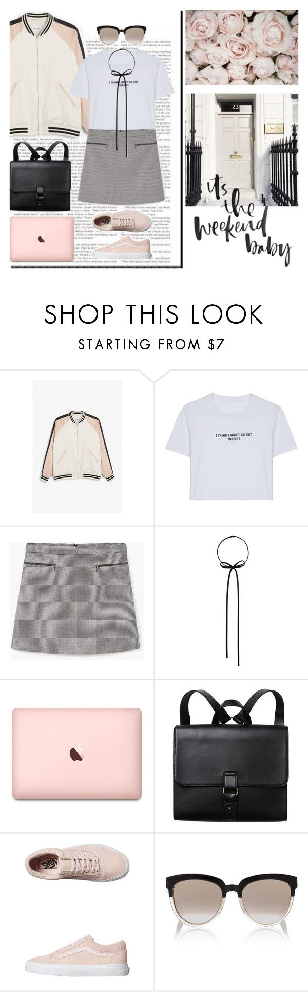 """""""real life is stranger"""" by emyemoemu ❤ liked on Polyvore featuring Monki, WithChic, MANGO, Forever 21, Vans and Christian Dior"""