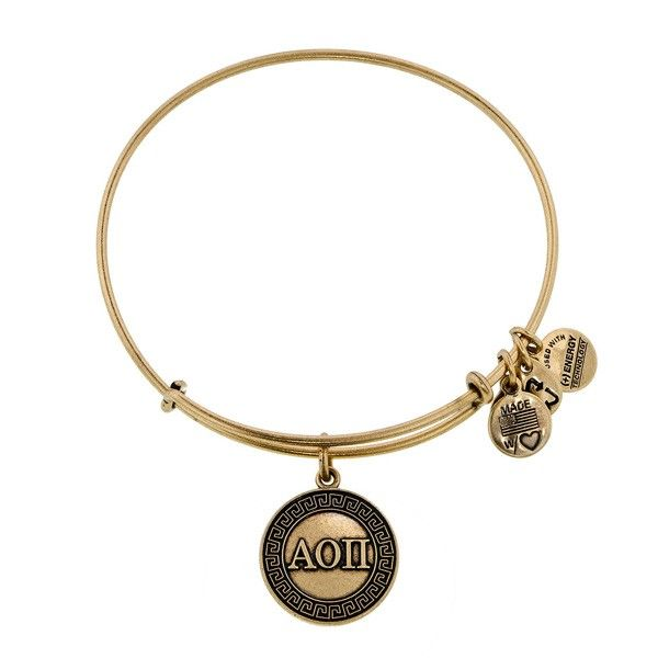 Alpha Omicron Pi Charm Bracelet | Alex and Ani