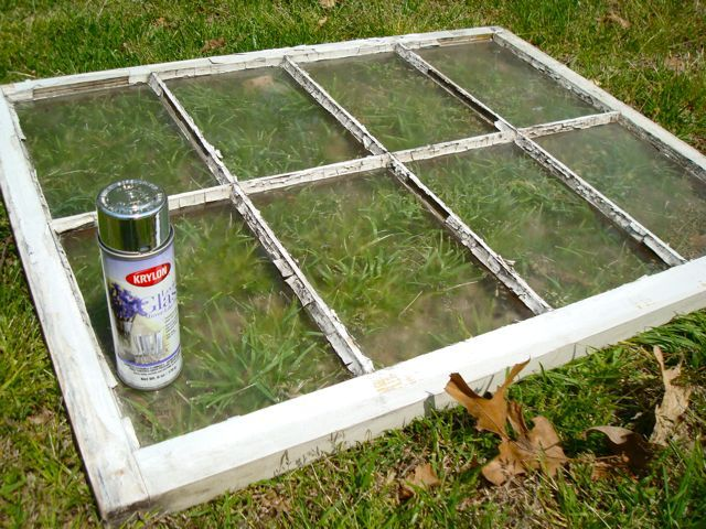 KRYLON looking glass paint, turns glass into mirror. I have done this and it is very cool. Turns old windows, funky glass items, etc into a mirror.